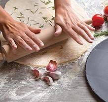 Pizza Bianca, crispy rosemary crust