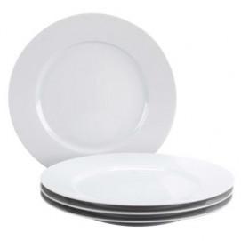 set of 4 white dinner plate