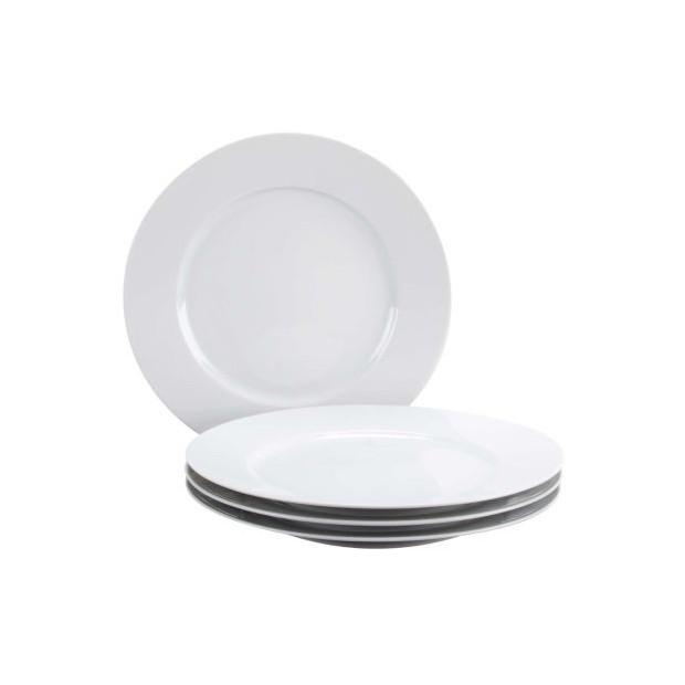 sc 1 st  Revol & Set of 4 white plates set of 4 dinner plates porcelain by REVOL