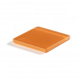 coaster square mandarine Nacryl Mealplak