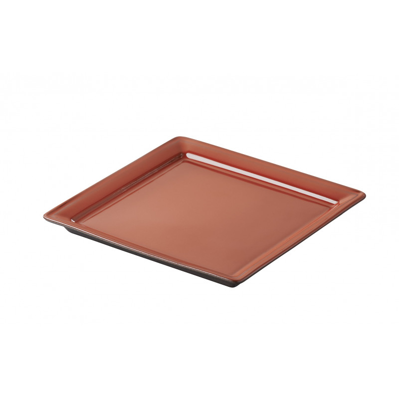 Square Small 2 Colors Plate Belle Cuisine Eclipse