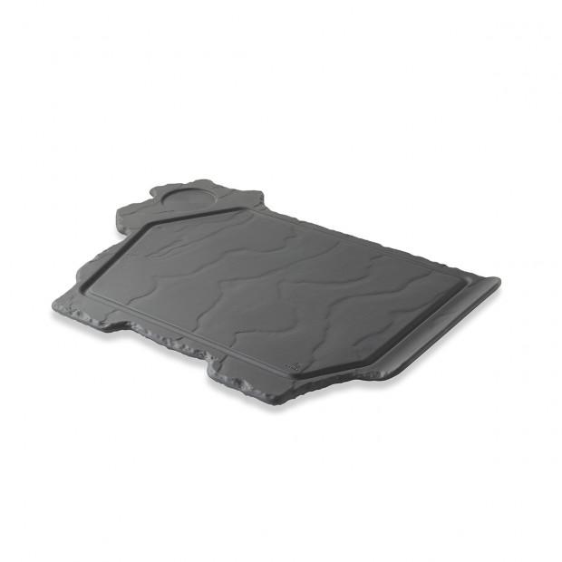 cow plate slate stone black porcelain