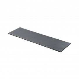 Matt slate style long serving rectangular tray Basalt