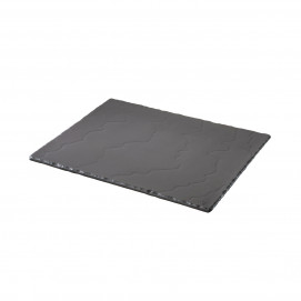 Matt slate style large serving rectangular tray Basalt