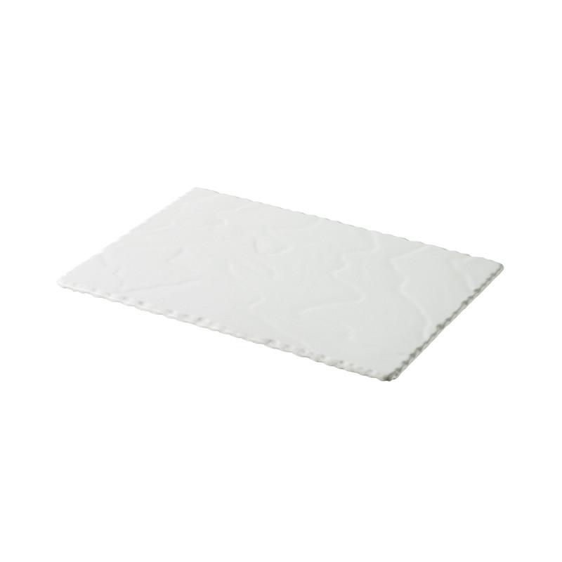 White Rectangular Slate Stone Look Appetizer Plates Basalt