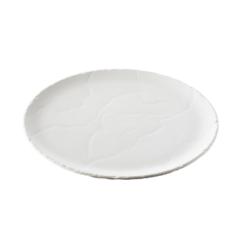 White Slate Stone Feel Pizza Pan Basalt
