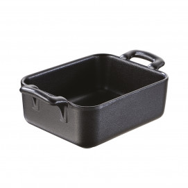 Black cast iron style individual rectangular baking dish Belle cuisine