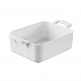 Individual rectangular baking dish white Belle cuisine