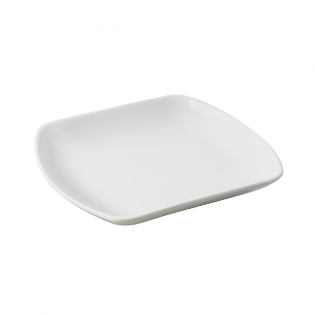 White porcelain square medium plate Club  sc 1 st  Revol & White porcelain square medium plate dinnerware Club
