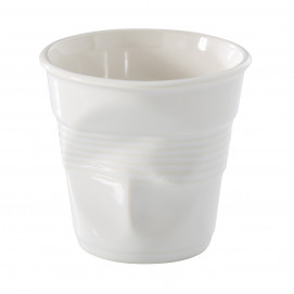 Crumpled coffee cup white 3 sizes