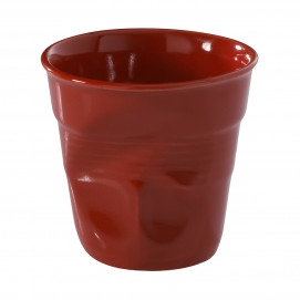 Crumpled coffee cup red 2 colors