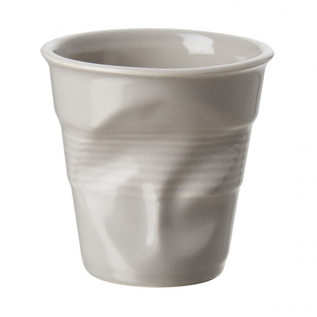 Crumpled Coffee Cup Taupe 2 Sizes