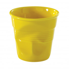 Crumpled coffee cup Yellow