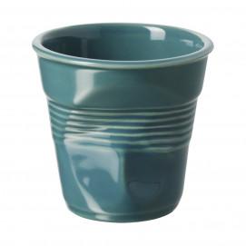 Crumpled coffee cup laguna green 2 sizes