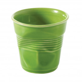 Crumpled coffee cup lime green 2 sizes