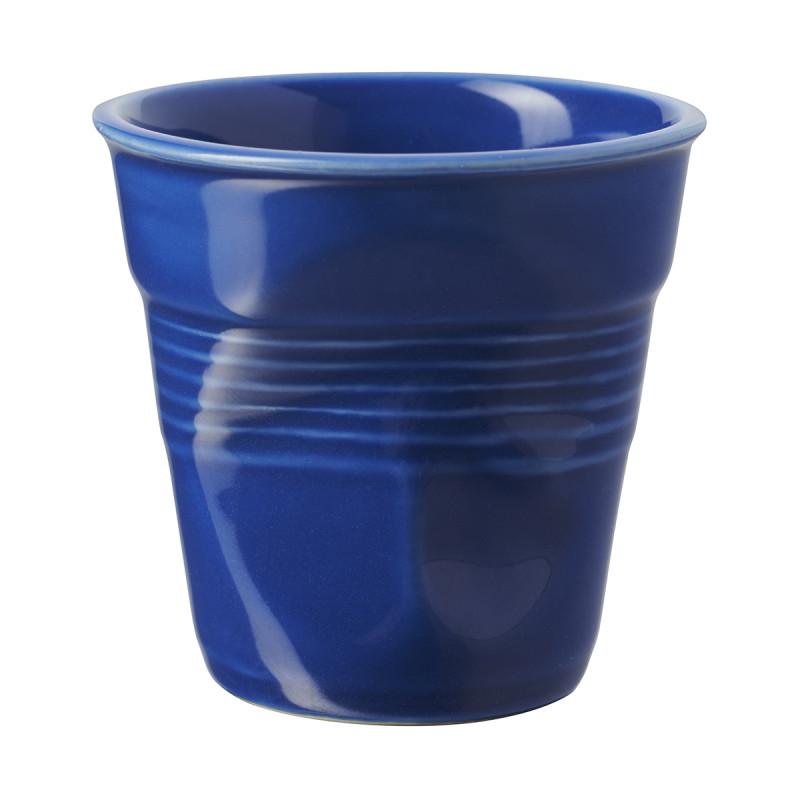 Crumpled coffee cups navy blue Revol