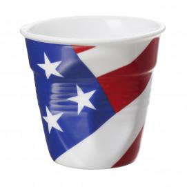 Crumpled coffee cups USA flag