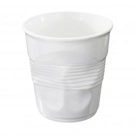 Crumpled white utensil jar