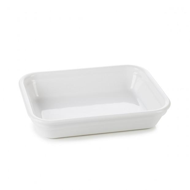 individual rectangular roasting dish 2 sizes white