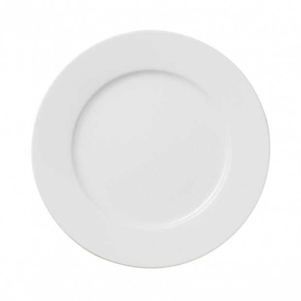 White Porcelain Dessert Plate 3 Sizes French Classique