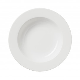 s/4 9inch soup plate white porcelain