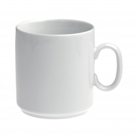 White porcelain mug