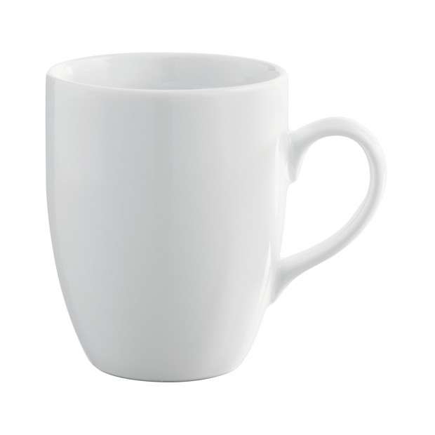 White Porcelain Coffee Mugs French Classique