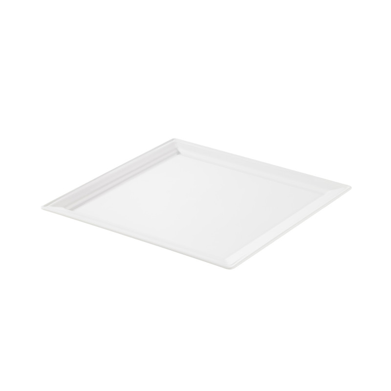 White Glaze Square Small Plate White Plate