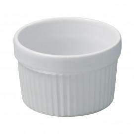 Plain white soufflés dishes French classique