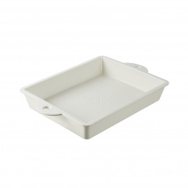 Les Naturels soft cream rectangular baking pan
