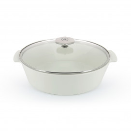 4.75QT Oval glass lid ceramic cookware REVOLUTION 2
