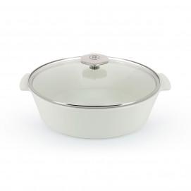 4.75QT Oval glass lid ceramic cookware REVOLUTION 2