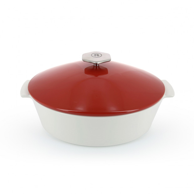 Revolution 2 oval cocotte 3.85QT pepper red induction