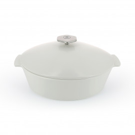 4.75QT Oval white ceramic cookware induction REVOLUTION 2