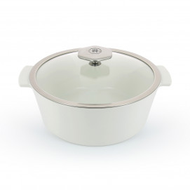 Round ceramic cookware 3 sizes glass lid REVOLUTION 2