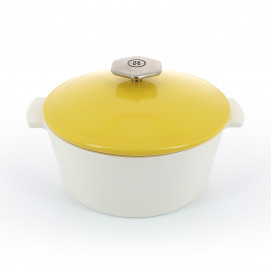 Revolution 2 round ceramic cookware seychelles yellow induction 3 sizes