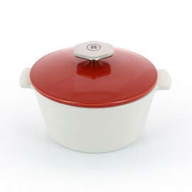 Red round ceramic cookware - 3 sizes - induction REVOLUTION 2