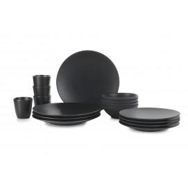 Set of 16 pieces Equinoxe black cast iron style