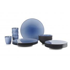 Set of 16 pieces Equinoxe Cirrus Blue