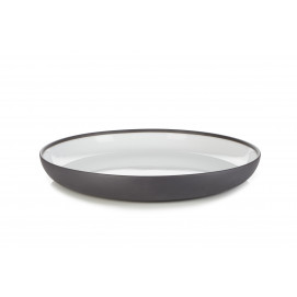 gourmet plate solid white and black Ø10.75