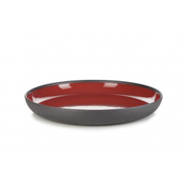 gourmet plate solid red and black Ø10.75