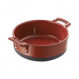 Eclipse pepper red round shallow starter dish
