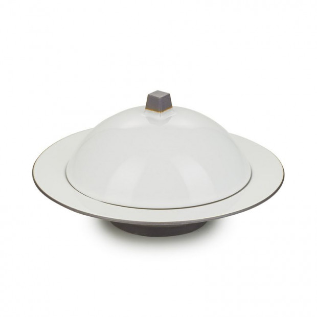 Deep plate with cloche 4 colors Equinoxe