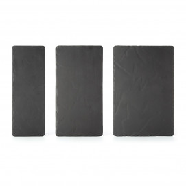 Basalt rectangular appetizer plates serveware and dinnerware 3 sizes
