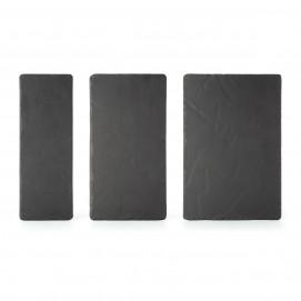 Basalt rectangular appetizer plates serveware and dinnerware 3 sizes