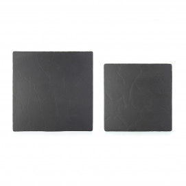 Basalt matt slate style square cheese board or cold appetizer plate 2 sizes