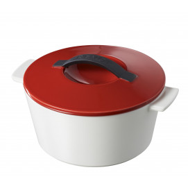 Revolution giftbox round dutch oven - induction, red lid