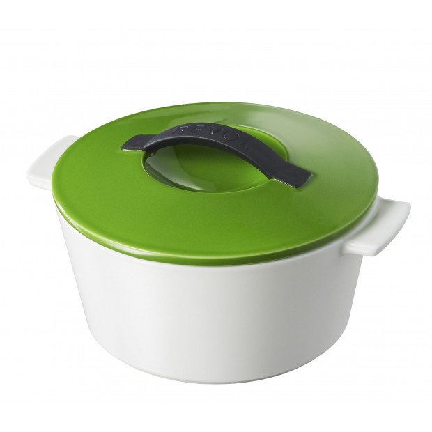 Revolution giftbox round dutch oven - induction, lime green lid