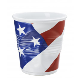 Utensil jar american flag crumple