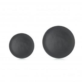Basalt round dinner plates 2 sizes